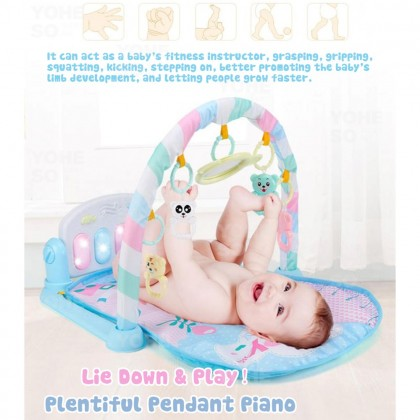 YOHESO Baby Toys Colourful Musical Play Gym Playgym Play Mats Playmat Animal 2 baby toys
